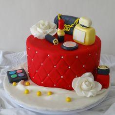 Make up themed cake! https://nichaliciousbaking.wordpress.com/make-up-cake/