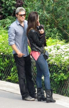 Paul Wesley and Torrey DeVitto went strolling to Orsay Museum and then visited the Sacre-Coeur Church in Paris.