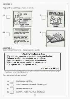 AVALIAÇÃO DIAGNÓSTICA 3º ANO PORTUGUÊS E MATEMÁTICA - SÓ ESCOLA