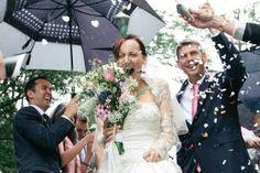 Wedding in the Rain, Somerset, UK