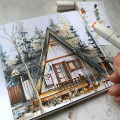"""иллюстратор БРОВКА ЕКАТЕРИНА on Instagram: """"Держим творческое вдохновение за хвост ⠀ и регистрируемся на бесплатный вебинар 17.12 в 19.00мск! Ссылка в шапке профиля⤴️ ⠀ Идём не…"""" Watercolor Art, Watercolor Painting, Watercolour"""