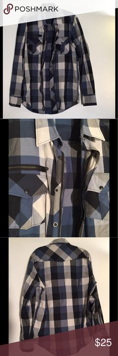 7 DIAMONDS SHIRT MENS XL SHIRT HAS ZIPPER AND SNAP FRONT FOR ADDED STYLE. SUPER COOL SHIRT WITH LOTS OF FLAIR AND DESIGN! 7 Diamonds Shirts Casual Button Down Shirts