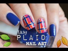 Easy Fall Nail Art! Cute Plaid Nails!  - http://47beauty.com/nails/index.php/2016/09/10/easy-fall-nail-art-cute-plaid-nails-%f0%9f%8d%82/ http://47beauty.com/nails/index.php/nail-art-designs-products/  Easy & cute plaid nail art perfect for fall!!  Product: Duri Cosmetics- Lingonberry Croissant Pavlova Beige Goji Berries Eclair Blue Cake Duri: https://duri.com/product-category/nail-polish/ Rose nail art!!➡️https://youtu.be/Nk6w6MFU