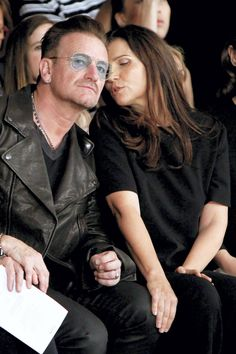 Bono and Ali Hewson, still crazy after all these years.  #theman #U2