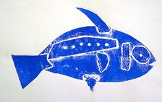 Fish Collograph