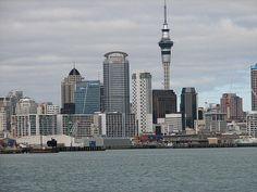 Auckland from Devonport Wharf. Auckland, New Zealand