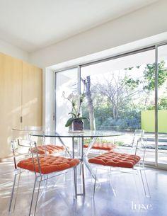 Modern White Breakfast Room