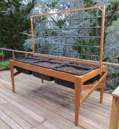 Raised-Bed Garden Planter with Length-Wise Trellis