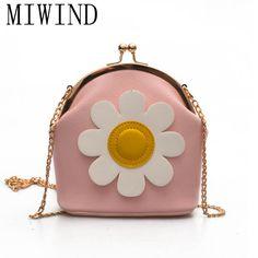 017 New Woman Cute Sun Flowers Shell Shoulder Bags Messenger Bag Crossboy Shoulder Bags For Girl TXX215