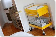 Changing table made out of tool cart - love this idea for our baby boy!    Sunex tools Multi-Purpose Service Cart - sold by AutoZone
