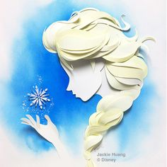 Disney characters, paper art by Jackie Huang - ego-alterego.com