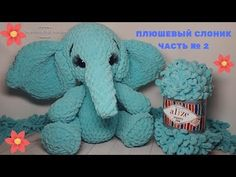 Plush elephant from Alize Puffy Fine (Toys from alizée, Puffy) without Knitti. Finger Knitting Blankets, Arm Knitting, Knitted Blankets, Finger Knitting Projects, Yarn Projects, Crochet Toys, Crochet Baby, Yarn Animals, Cushion Embroidery