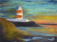 Dance Art, Lighthouse, Ireland, Wax, Cold, Paper, Prints, Faith, Painting