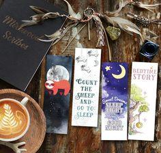 Bedtime Bookmarks, Sleepy Sloth Bookmark, Bedtime Story Sweet Bookmarker, Night Sky Counting Sheep Printable Bookmark Set