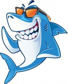 Art And Illustration, Watercolor Illustration, Cartoon Cartoon, Shark Images, Shark Drawing, Shark Logo, Shark Shark, Baby Shark, Community Logo