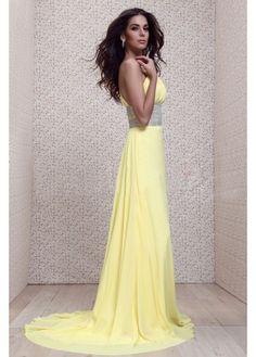 Natural Charming One-Shoulder Floor-Length Formal Dress/Evening Dress