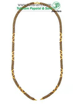 Mangalsutra Chain in 22K Gold of Length 26.0 inches - BBC942 - Indian Jewelry from Totaram Jewelers