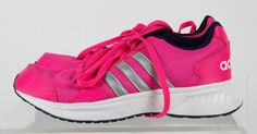Adidas  Pink Gray Lace Up Athletic Sport Sneaker Running Shoes Size 9 #adidas #AthleticSneakers