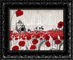 Wizard Of Oz Poppy Field  Frank Baum  van TheRekindledPage op Etsy, $7.98