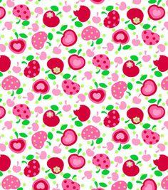 Tutti Fruitti- Embossed Fruit Salad Toss Cherries White & fabric at Joann.com