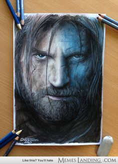 Pencil Portrait of Jamie Lannister
