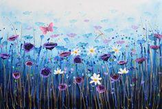 Buy Poppy Breeze, Acrylic painting by Amanda Dagg on Artfinder. Discover…