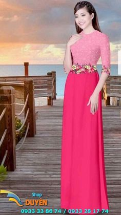 Vietnamese Dress, In 3d, Ao Dai, Asian, Formal Dresses, Floral, Abayas, Style, Long Gowns