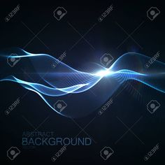 123rf: 3D illuminated abstract digital wave of glowing particles and Flare lens light effect. Futuristic vector illustration of particles. Technology concept of radio or sound wave. Abstract background Stock Vector - 58538082