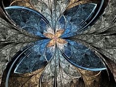 Elliptic Butterfly. One of my fractal art pieces. Available as a framed art print, poster, or greeting card at RedBubble.