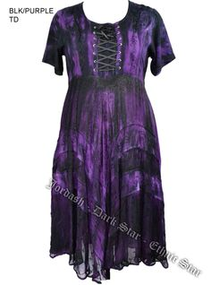 Dark Star Plus Size Black and Purple Gothic Corset Long Gown w Sleeves [JD/DR/8243BPurp] - $85.99 : Mystic Crypt, the most unique, hard to find items at ghoulishly great prices!