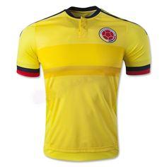 Maillot de foot Colombie Domicile 2015 2016 Joune Colombia Soccer 3dfea06749358