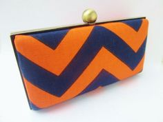 clutch purse chevron/bridesmaid clutch/Fall Fashion clutch. $45.00, via Etsy.