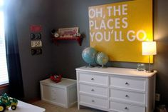Oh, the places you'll go.  Nursery artwork?