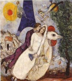 Marc Chagall...love love love this piece. My heart pulses when I see this man's work. Beautifulest artist.