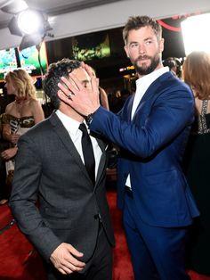 Com Chris Hemsworth.