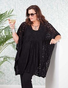 Plus size Penelope black cover up