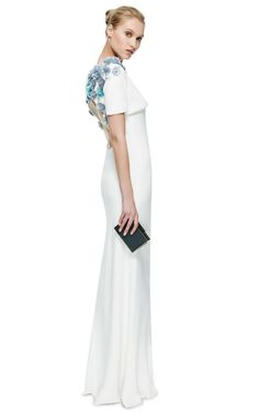Honor Open Back Capelet With Flowers by Honor for Preorder on Moda Operandi