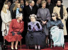 She made her last public appearance in December 2001, wheelchair bound while attending the 100th birthday celebration of her aunt, Princess Alice, Duchess of Gloucester. Description from royal-splendor.blogspot.ie. I searched for this on bing.com/images