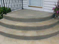 Coolest Concrete Stepping Stones For Your Garden - DIY Ideas Coolest Concrete . - Coolest Concrete Stepping Stones For Your Garden – DIY Ideas Coolest Concrete Stepping Stones For - Front Patio, Brick Steps, Door Steps, Porch Steps, Patio Stairs, Front Porch Steps, Concrete Stairs, Concrete Steps, Back Door Entrance