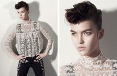 Androgynous look for women