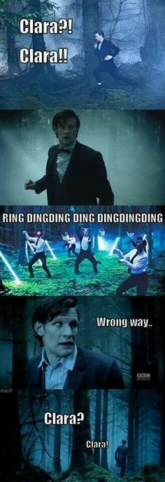 hahahaha this is brilliant! doctor who meets what does the fox say.  I literally watched this episode 20 minutes ago