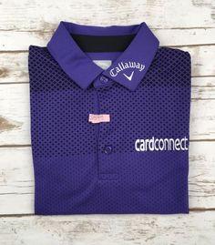 Men Callaway Polo Tour Issue Pro Golf Odyssey Purple Black Collared Shirt M  Rare  Callaway cd47f4870e290