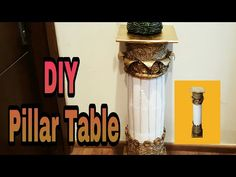 "DIY - Best Out Of Plastic Bottles ""TABLE PILLAR"" / Room decor idea: - YouTube"
