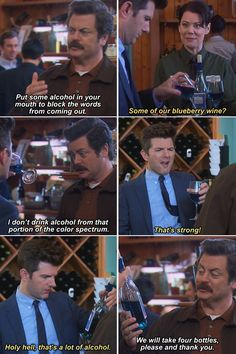 Funny pictures about Ron Swanson Is My Spirit Animal. Oh, and cool pics about Ron Swanson Is My Spirit Animal. Also, Ron Swanson Is My Spirit Animal photos. Parks And Rec Memes, Parks And Recreation, Ron Swanson Meme, Parcs And Rec, Tv Funny, Funny Stuff, Hilarious Memes, Funny Humor, Funny Things