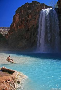 Wonderful Blue Water, Havasupai Indian Reservation, Arizona Arizona isnt too far from new mexico. This mifht have to be a shadow and i getaway. Places Around The World, Oh The Places You'll Go, Places To Travel, Places To Visit, Travel Destinations, Dream Vacations, Vacation Spots, Excursion, Road Trip Usa