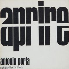 Antonio Porta, Aprire, Scheiwiller, 1964
