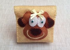 Cute Dog Shaped Felt Small Notepad,Party Favor,Handmade Notepad,Small…