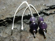 Amethyst and Sterling Silver Earring by Blackberrygardens on Etsy, $21.00