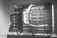 Love this building! // Model of the Cooper Union by Morphosis