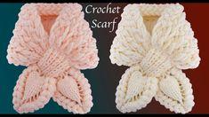 Bufanda a Crochet Puntos trenza Mariposa Punto de hojas en 3D tejido tal...